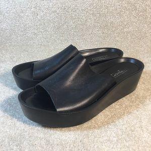NWOT Topshop Black Slide Sandals sz 9